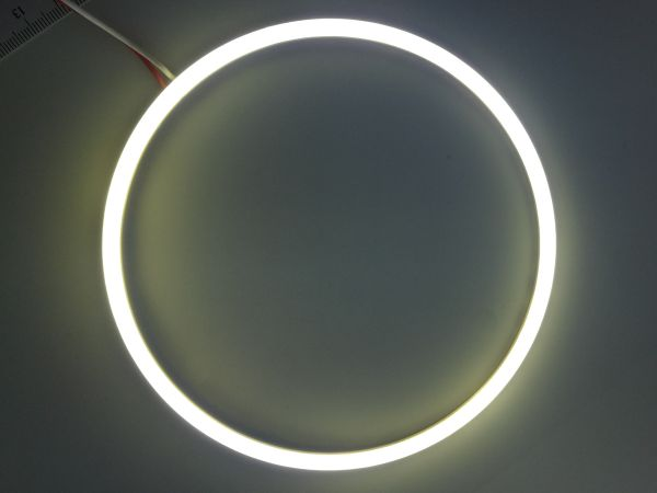 Светодиодные дневные ходовые огни — Ангельские глазки белого цвета 140 мм. 1шт.