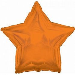Звезда оранжевая шар фольгированный с гелием