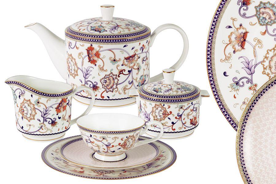 "Чайный сервиз на 6 персон ""Королева Анна"", 21 пр."