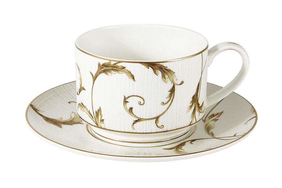 """Чайный набор на 1 персону """"Элегия"""" Голд, 2 пр., 0.2 л"""