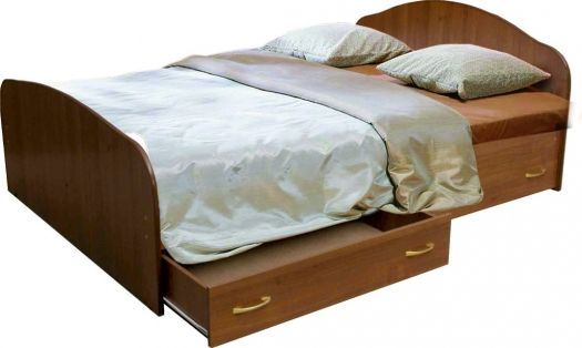 Кровать с 2-мя   ящиками на направляющих. Мария