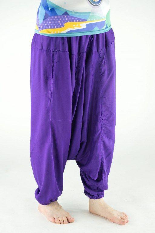 Яркие фиолетовые алладины из вискозы, унисекс (отправка из Индии)