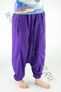 Яркие фиолетовые алладины из вискозы (унисекс)