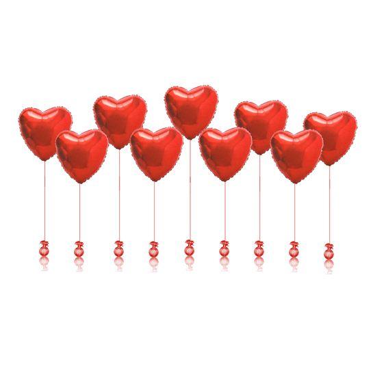 Сердца 91см. на грузиках