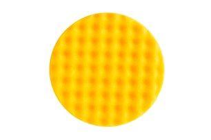 Желтый поролоновый полировальный диск 150 мм, рельефный, 2 шт/уп