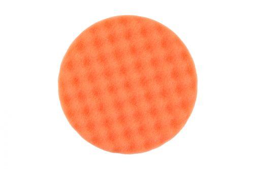 Рельефный поролоновый полировальный диск 150x25мм, оранжевый, 2 шт/уп