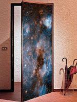 Наклейка на дверь - Глубокий космос | магазин Интерьерные наклейки