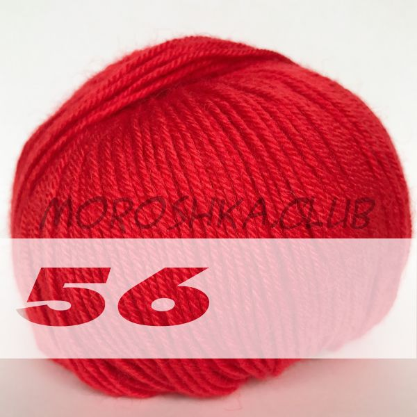Красный Baby wool Alize (цвет 56)