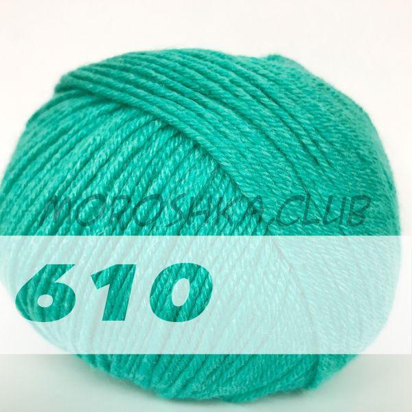 Изумрудный Baby wool Alize (цвет 610)