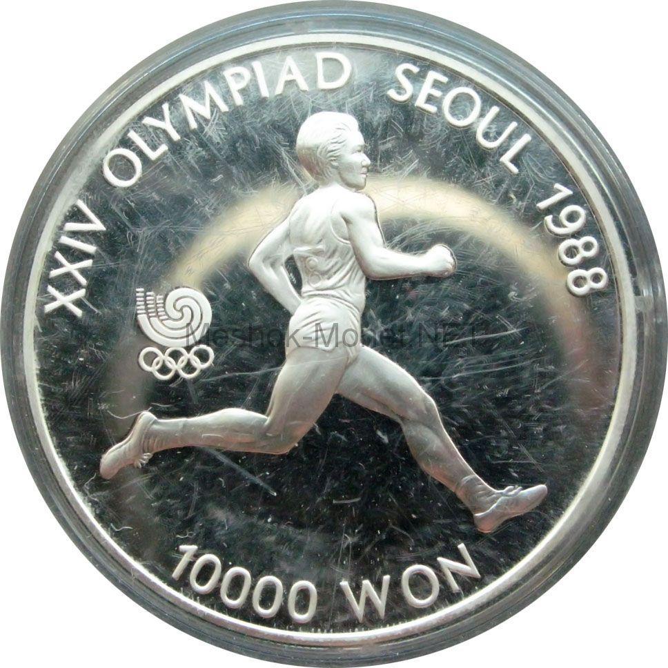 Южная Корея 10000 вон 1986 г. Бегун