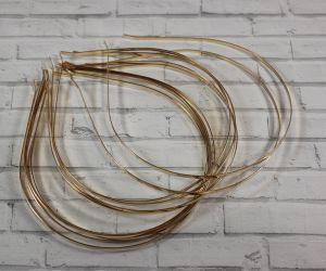 Ободок-основа металл, 3 мм, цвет: золото. 1 уп = 12шт