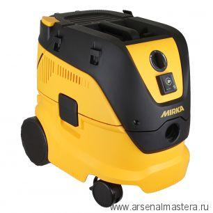 Профессиональное пылеудаляющее устройство (пылесос) Mirka DE 1230 L PC 230В 4500 л/мин  с функцией ручной очистки фильтра KIT1601ARMWH