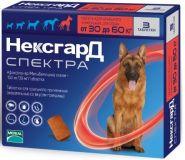 НексгарД Спектра Жевательные таблетки для собак 30-60 кг (3 табл.)