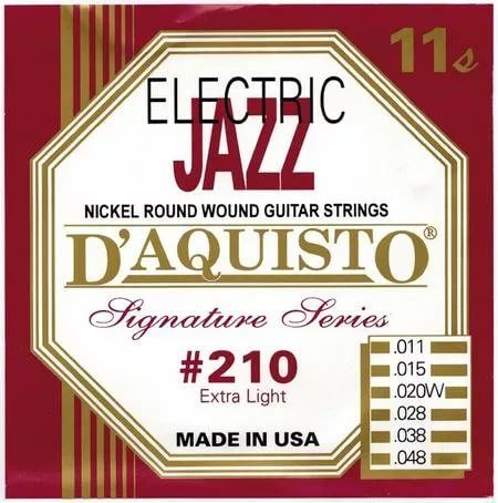 D'Aquisto #210 (11-48) Струны для электрогитары