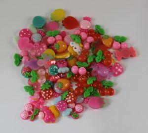 Кабошон, пластик, МИКС, Фрукты, овощи, конфетки, размер: 16-22мм (1уп=50шт), Арт. КБП0280