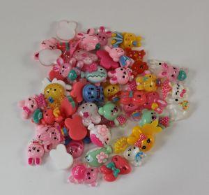 Кабошон, пластик, МИКС, Животные, размер: 16-22мм (1уп=50шт), Арт. КБП0283