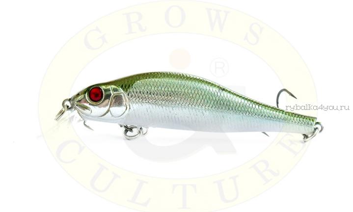 Купить Воблер Grows Culture Swim Bait 80F 80 мм/ 6 гр/заглубление: 0,5 - 1,2 м/ цвет: Q12