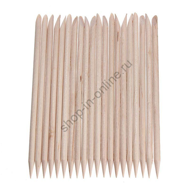 Деревянные палочки для кутикулы 20 шт