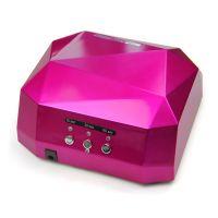Лампа LED+UV гибрид камень сиреневый цвет, 36 W