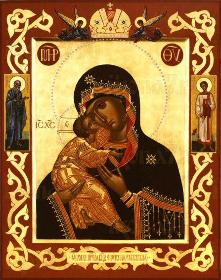 Умиление Себежская Опочецкая (рукописная икона)