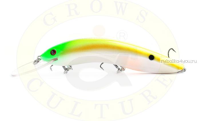Воблер Grows Culture Flathead 120F 120 мм/ 13 гр/заглубление: 5+ м/ цвет: Q8  - купить со скидкой