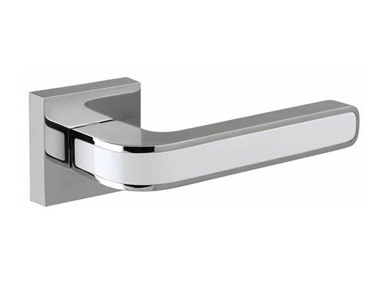 Дверная ручка модель NEO DM CP-WH-19, цвет хром белая