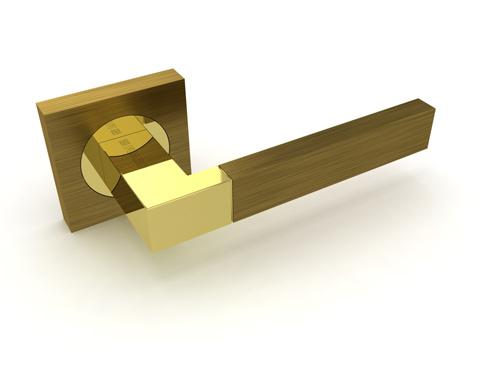 Ручка дверная Ethno KM AB-GP бронза-золото