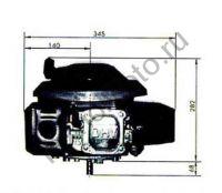 Lifan 1P70FV-B D25 (6 л. с.) двигатель с вертикальным валом 25 мм, 4х-тактный, одноцилиндровый, OHV, воздушное охлаждение., мощность 6 л. с.