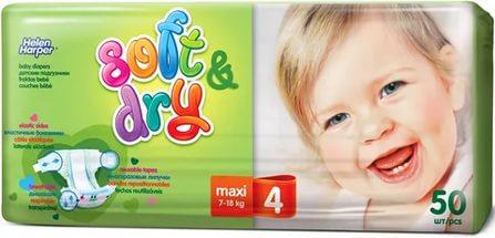 Helen Harper  Детские подгузники Soft Dry maxi (7-18 кг) 50 шт.