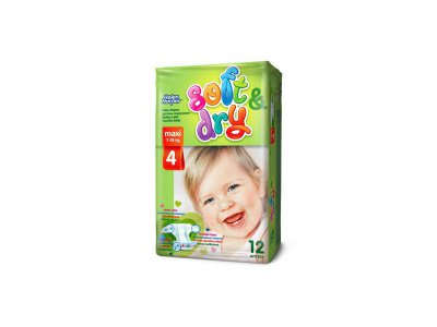 Helen Harper  Детские подгузники Soft Dry maxi (7-18 кг) 12 шт.