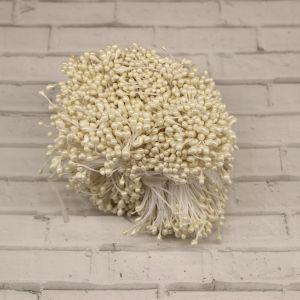 Тычинки перламутровые двусторонние, 3х60мм, цвет №14 белый (1уп = 1500-1600 тычинок)