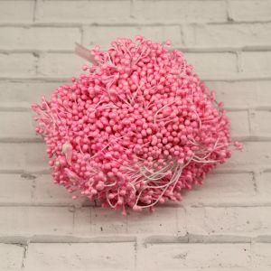 `Тычинки перламутровые двусторонние, 3х60мм, цвет №03 розовый (1уп = 70-80 тычинок)