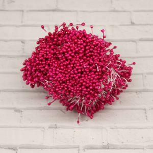`Тычинки перламутровые двусторонние, 3х60мм, цвет №05 фуксия (1уп = 70-80 тычинок)