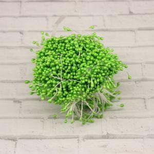 `Тычинки перламутровые двусторонние, 3х60мм, цвет №09 светло-зеленый (1уп = 70-80 тычинок)