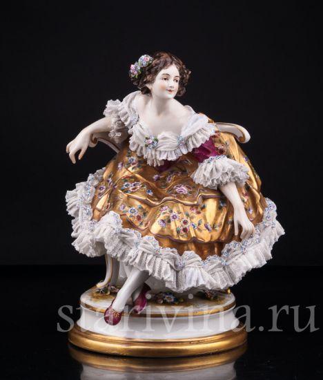 Изображение Балерина после выступления, кружевная, Volkstedt, Германия, до 1935 года