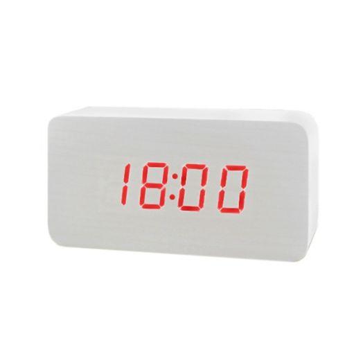 Часы эл. VST863-1 крас.цифры (БЕЛЫЕ)
