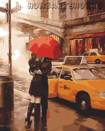 """Раскраска по номерам """"Под зонтом"""" Даниель Дель Орфано"""