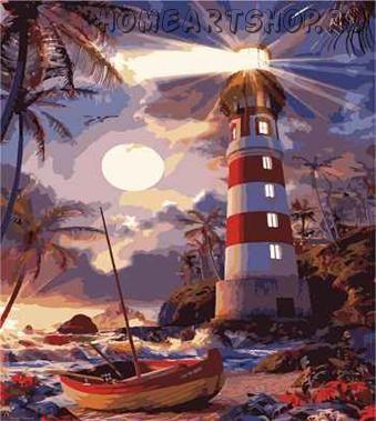 """Раскраска по номерам """"Светящийся маяк"""""""