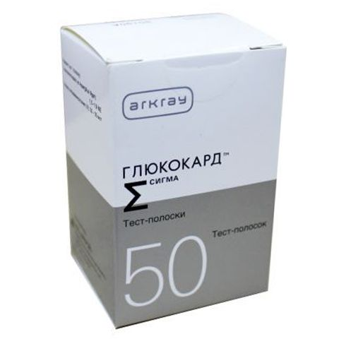 """Тест-полоски """"Глюкокард Сигма"""" (Glucocard Sigma) №50"""