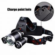 Яркий 3х точечный налобный фонарь Z30