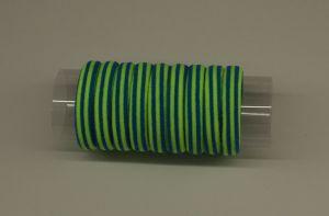 `Резинка для волос бесшовная 4 см, полоска, цвет № 05 лайм-синий (1уп = 24шт)