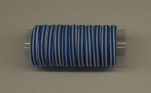 `Резинка для волос бесшовная 4 см, полоска, цвет № 17 белый-голубой (1уп = 24шт)