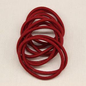 Резинка для волос бесшовная, диаметр 50 мм, цвет 05 бордовый (1 уп=24 шт)