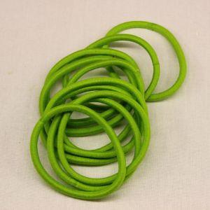 `Резинка для волос бесшовная, диаметр 50 мм, цвет 01 зеленый
