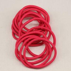 `Резинка для волос бесшовная, диаметр 50 мм, цвет 03 ярко-розовый