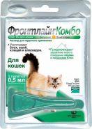 Фронтлайн Комбо Капли от блох и клещей для кошек и хорьков (0,5 мл)