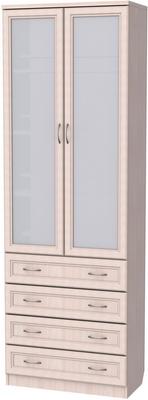 У-204. Шкаф для книг с ящиками  2216x750x370 мм  ВxШxГ