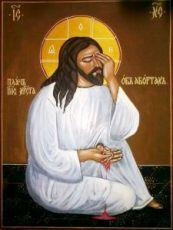 Плач Иисуса Христа об убиенных младенцах (рукописная икона)