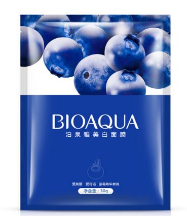 Питательная маска «BIOAQUA» с экстрактом голубики.(3529)