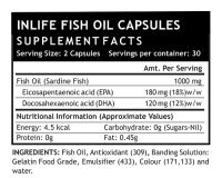 Рыбий жир Омега-3 в капсулах Инлайф | INLIFE Fish Oil Omega 3 fatty acids Supplement